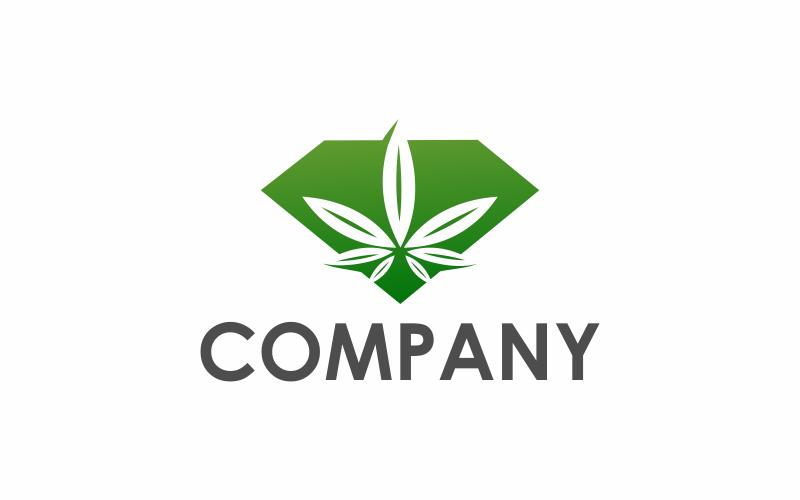 Шаблон логотипа Diamond Cannabis