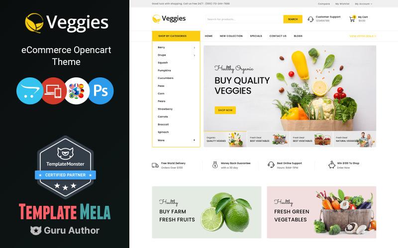 Gemüse - Mehrzweck-OpenCart-Vorlage