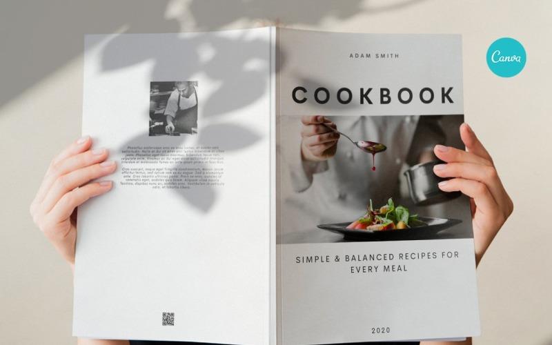 Поваренная книга / Книга рецептов / Шаблон журнала электронной книги рецептов