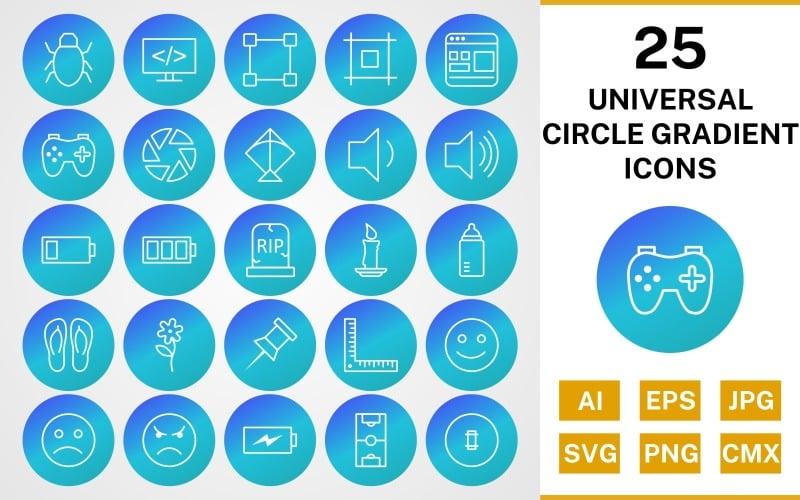 25 универсальных круговых градиентных иконок