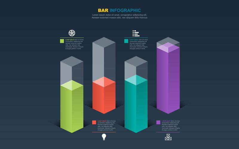 Analytické statistické informace infografika prvky