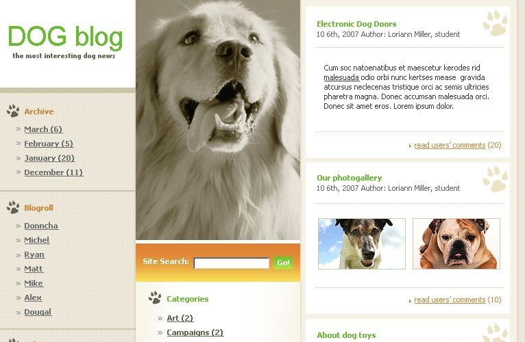 Тема WordPress для собак