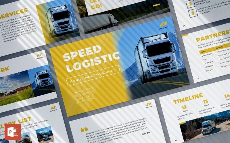 Modelo de apresentação de logística em PowerPoint