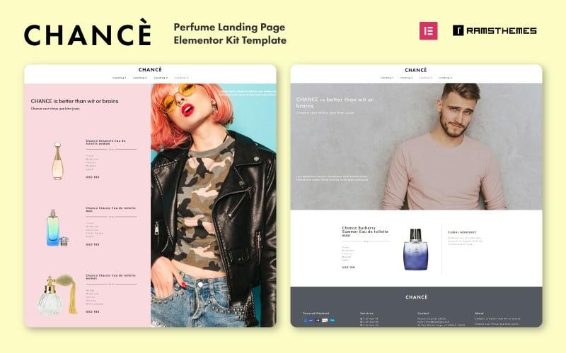 CHANCE - Perfume Landing Page WordPress Template - Elementor Kit