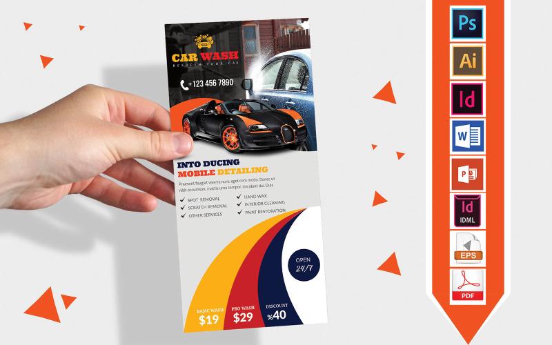 Карточка стойки | Автомойка DL Flyer Vol-03 - Шаблон фирменного стиля