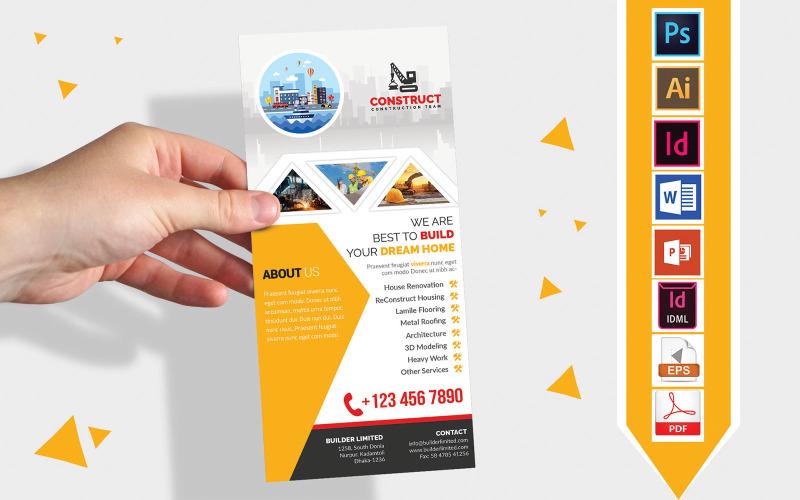 Карточка стойки | Construction DL Flyer Vol-04 - Шаблон фирменного стиля