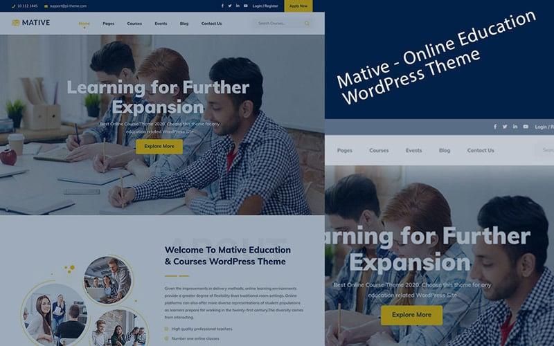Mative - Elementor Education WordPress Theme
