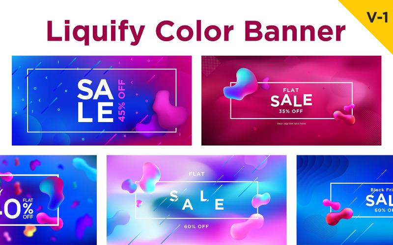 13 сжиженный жидкий цветной баннер дизайн фона