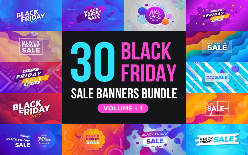 Баннеры распродажи Черной пятницы V 1 Шаблон для социальных сетей
