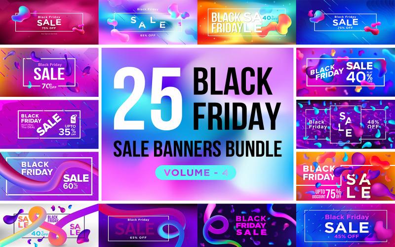 Баннеры распродажи Черной пятницы V 4 Шаблон для социальных сетей