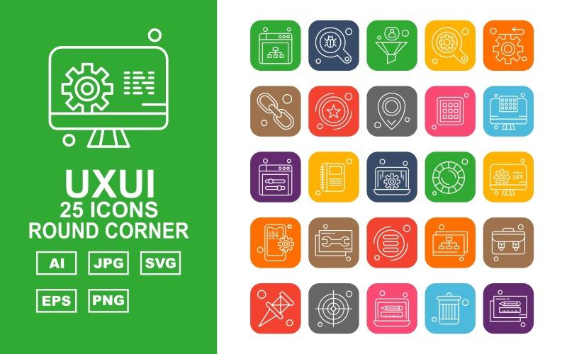 Набор из 25 круглых углов премиум-класса UXUI II