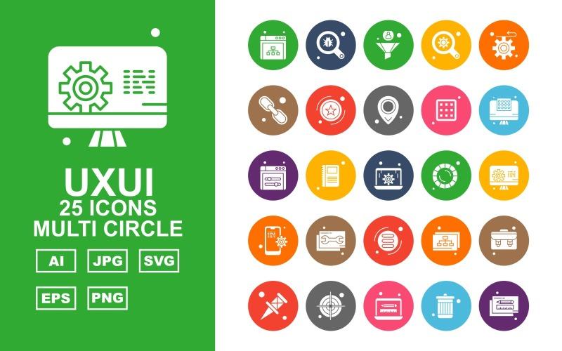 25 Премиум-набор иконок с несколькими кругами UXUI II