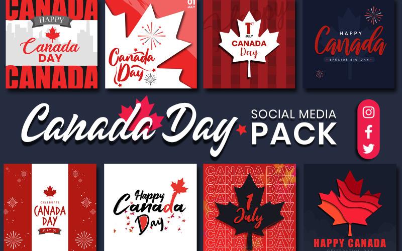 Шаблон для социальных сетей ко Дню Канады