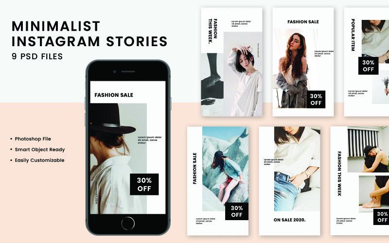 Шаблон Instagram Stories для социальных сетей