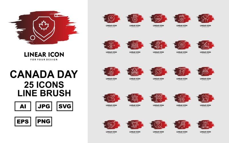 Набор из 25 кистей Premium Office II Line Brush Icon Set