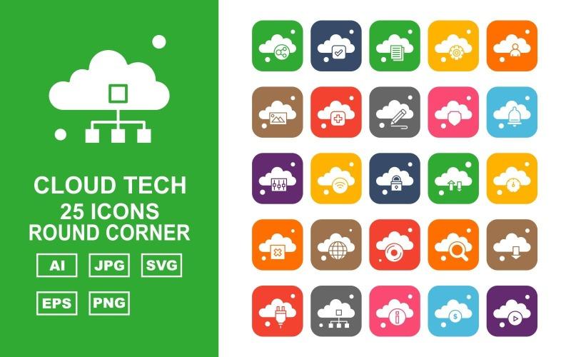 Набор из 25 круглых углов премиум-класса Cloud Tech