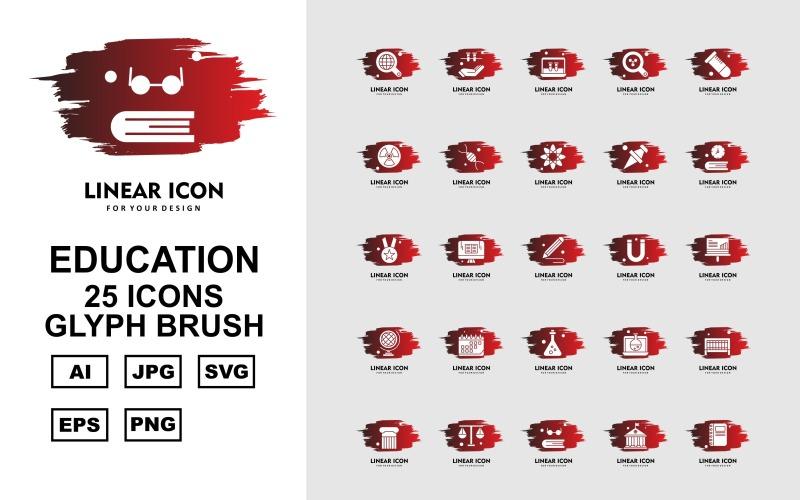 Набор из 25 образовательных кистей с символами премиум-класса