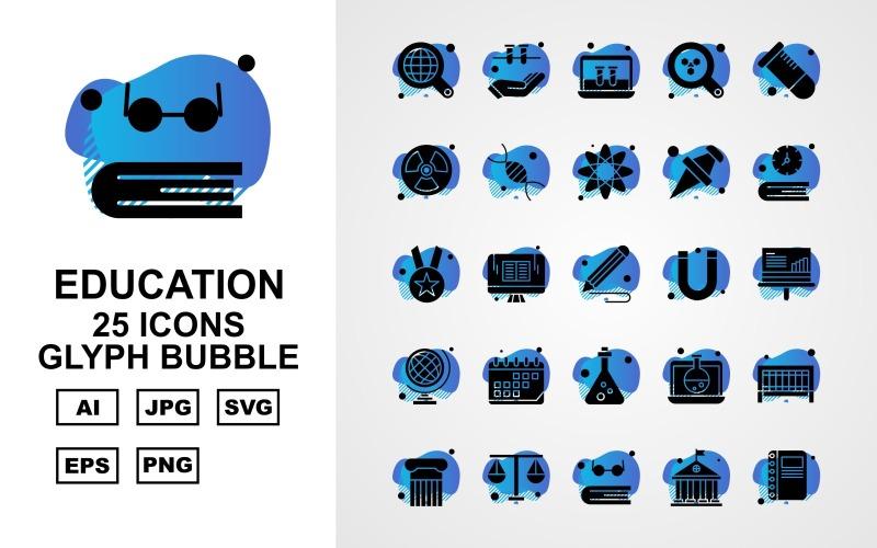 Набор из 25 образовательных пузырей с символами премиум-класса