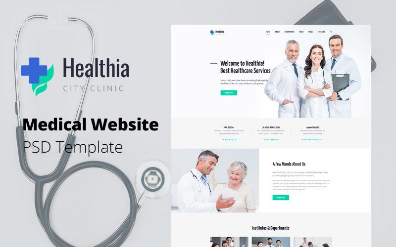 Healthia - PSD шаблон медицинского сайта