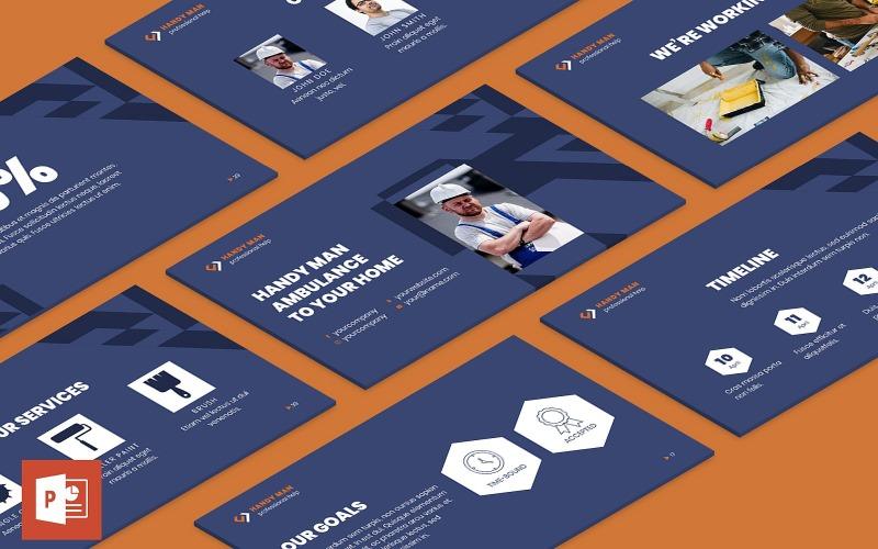 Шаблон презентации PowerPoint разнорабочий