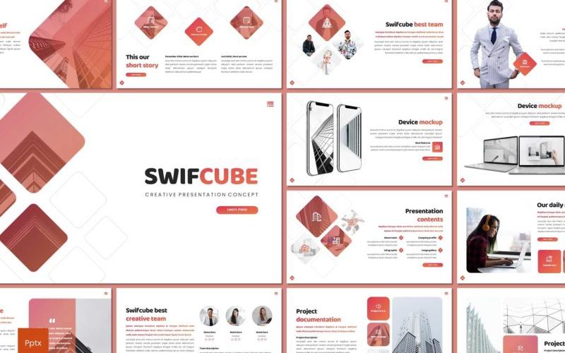 Swiftcube шаблон PowerPoint