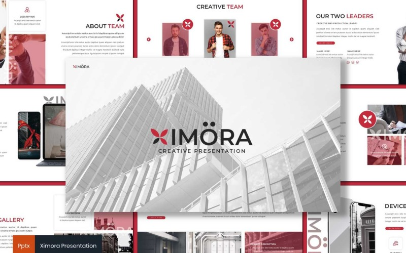 Ximora шаблон PowerPoint
