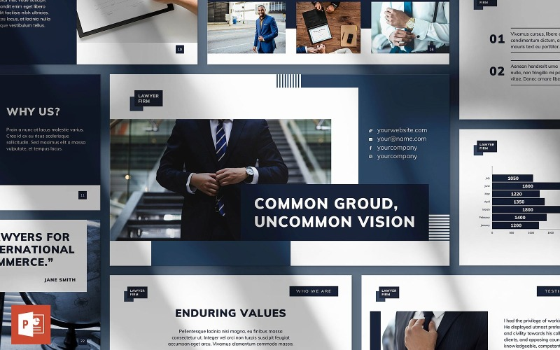 Шаблон PowerPoint презентации юридической фирмы