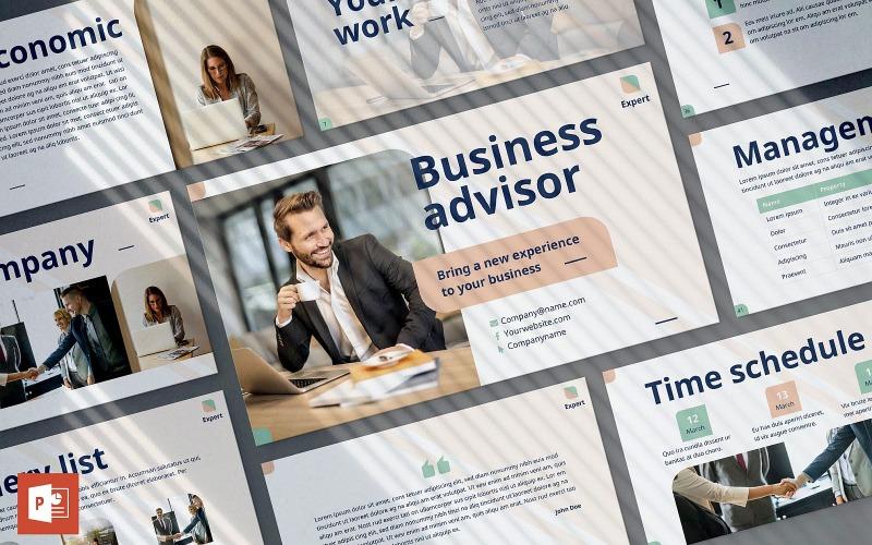 Шаблон презентации бизнес-консультанта PowerPoint