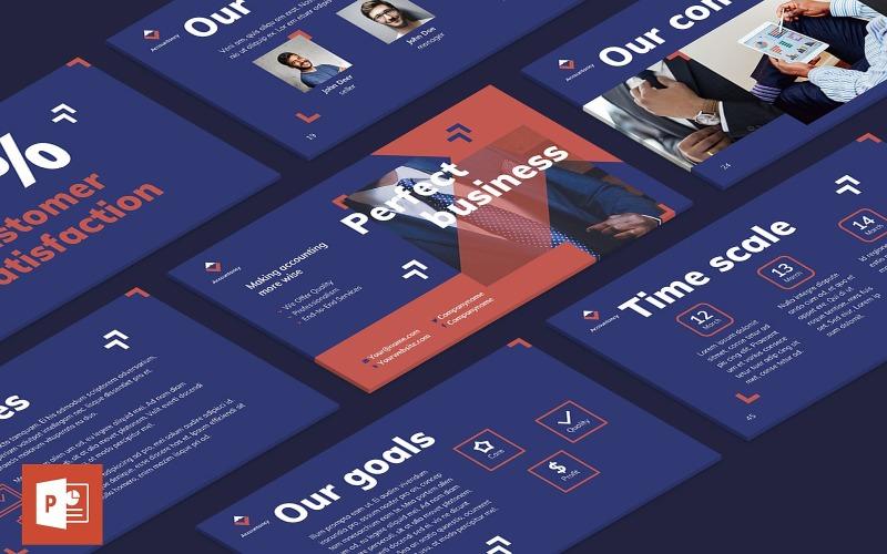 Шаблон презентации PowerPoint для бухгалтерской фирмы