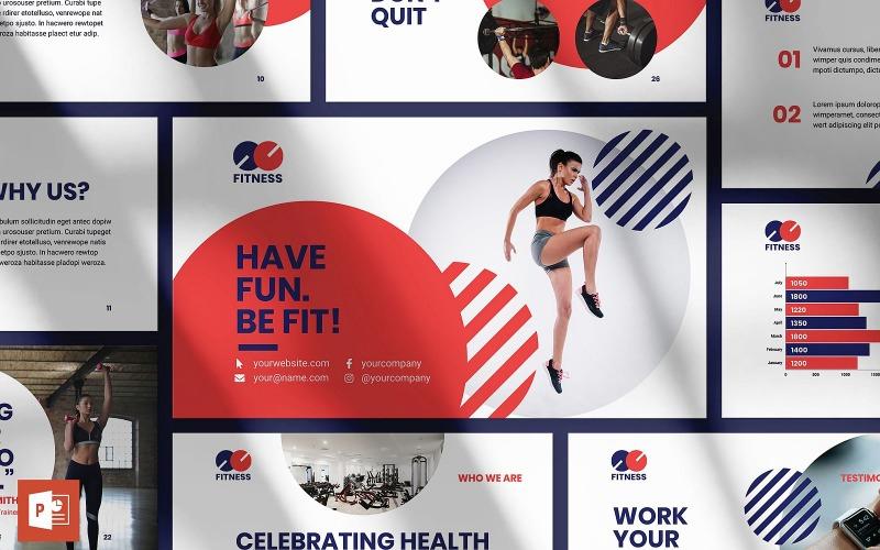 Шаблон презентации PowerPoint для фитнес-тренера