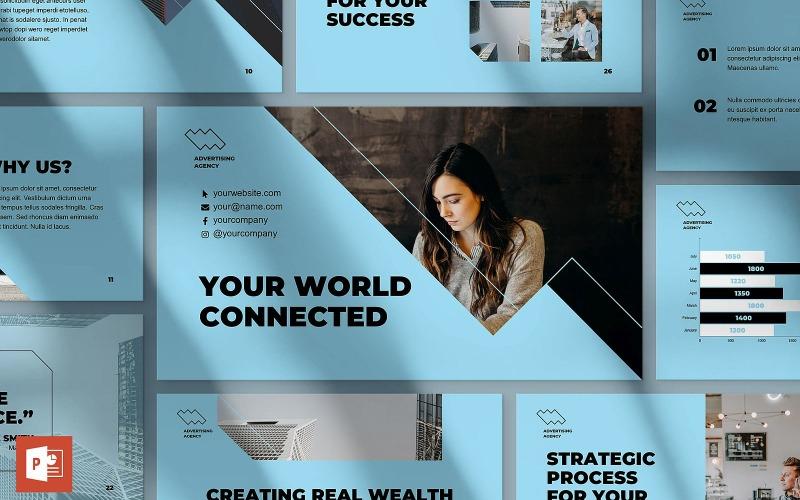Шаблон презентации PowerPoint для рекламного консультанта