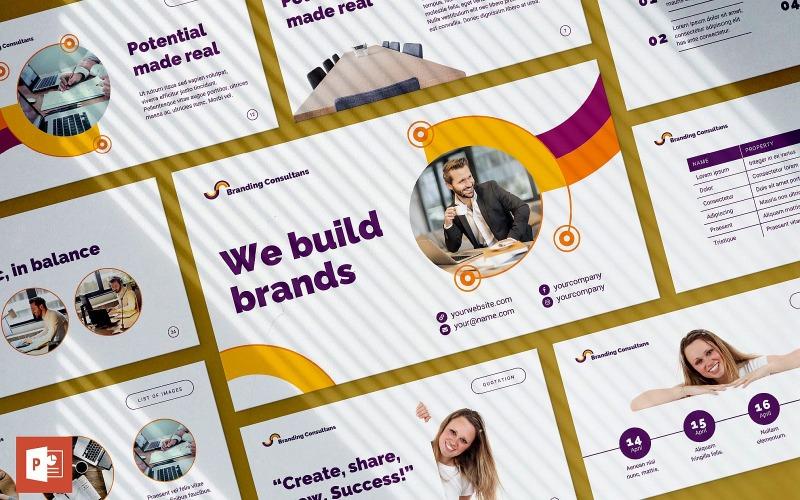 Шаблон презентации PowerPoint консультанта по брендингу