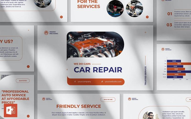 Шаблон презентации PowerPoint по ремонту автомобилей