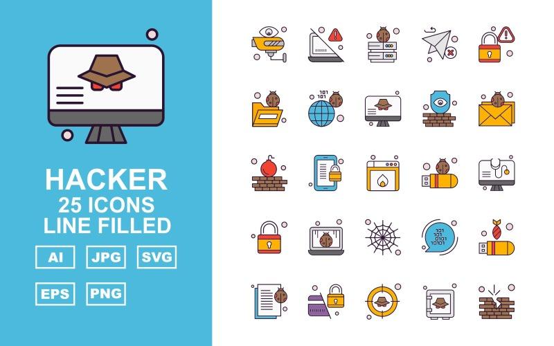 Набор иконок из 25 премиум-хакеров