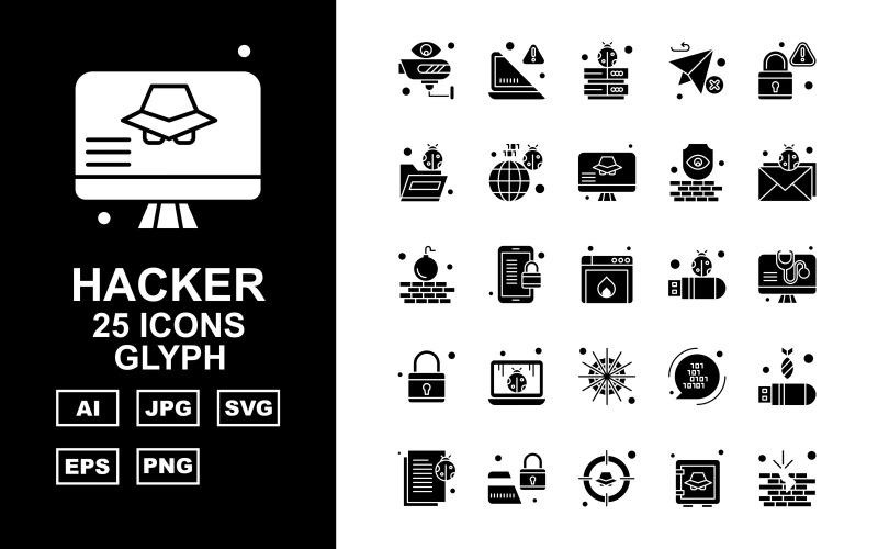Набор из 25 символов премиум-хакерских символов