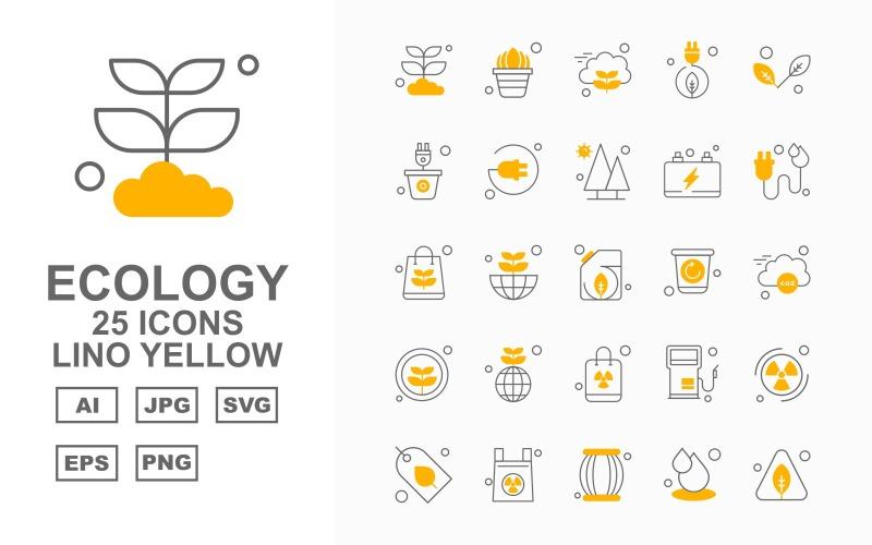 25 премиальных приложений для Android Lino Yellow Icon Set