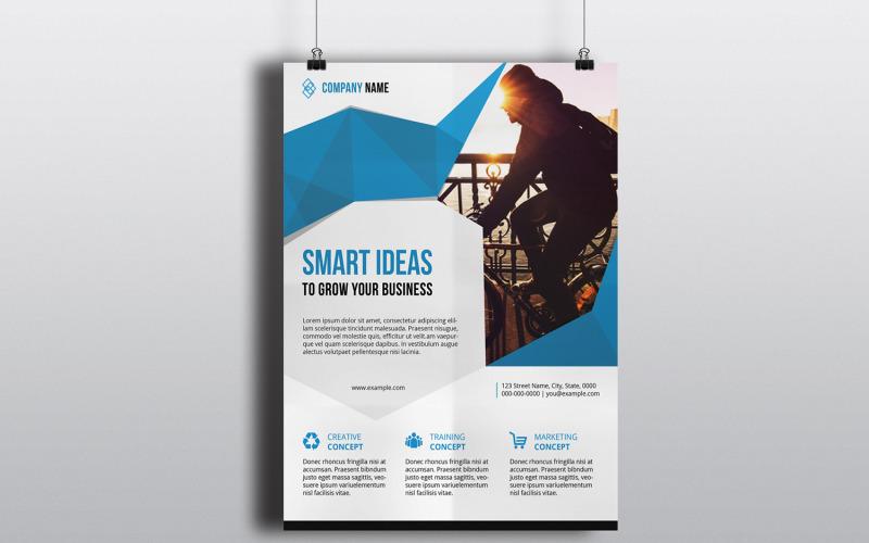 Бизнес-флаер Smart Idea - Шаблон фирменного стиля