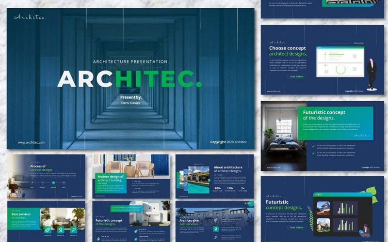 Architec - Архитектурный бизнес-шаблон Google Slides