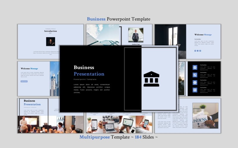 Бизнес - креативный многоцелевой шаблон PowerPoint