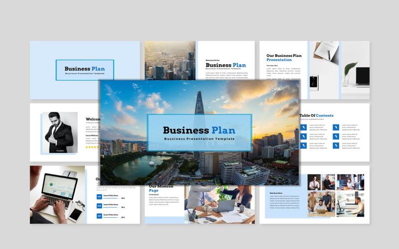 Бизнес-план 1 - Современный бизнес-шаблон PowerPoint