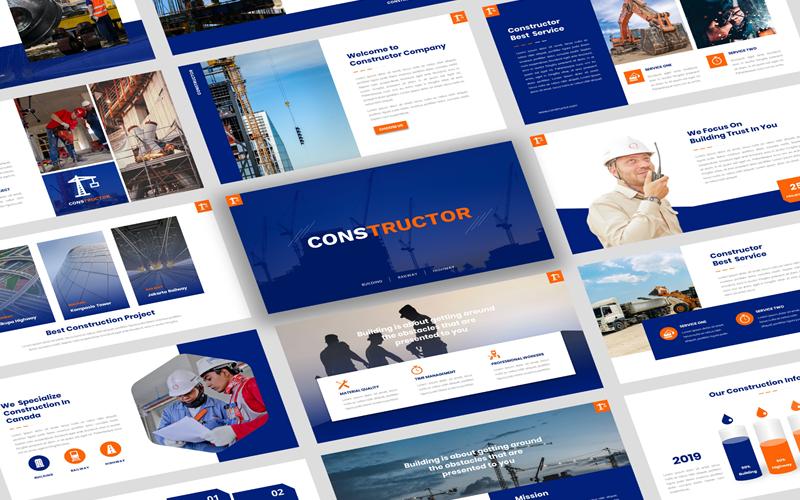 Конструктор - Шаблон PowerPoint ConstructionPresentation
