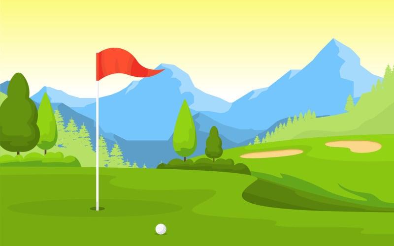 Открытый спортивный гольф - Иллюстрация