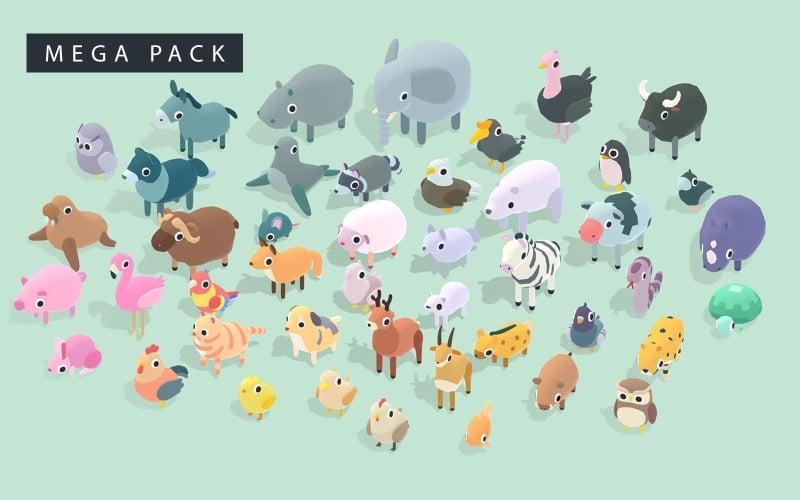 Quirky Series - Animals Mega Pack 3D Модель