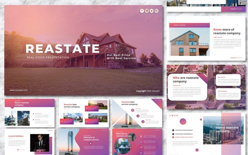 Reastate - Шаблон для Google Презентаций по недвижимости