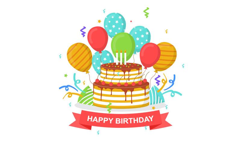 День рождения воздушный шар фон
