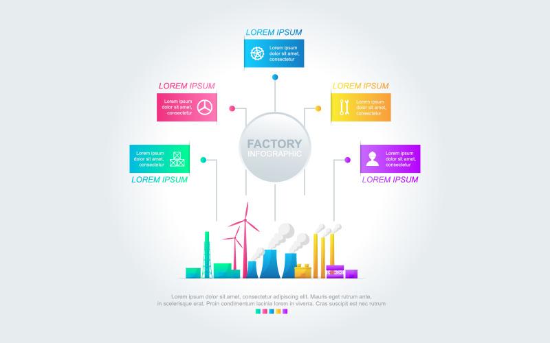 Элементы инфографики Factory Analytic Data