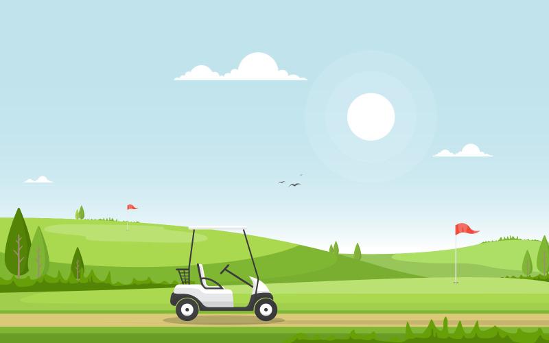 Флаг поля для гольфа - Иллюстрация