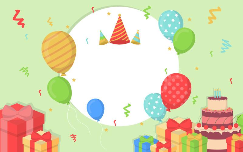 Фон баннера вечеринки по случаю дня рождения