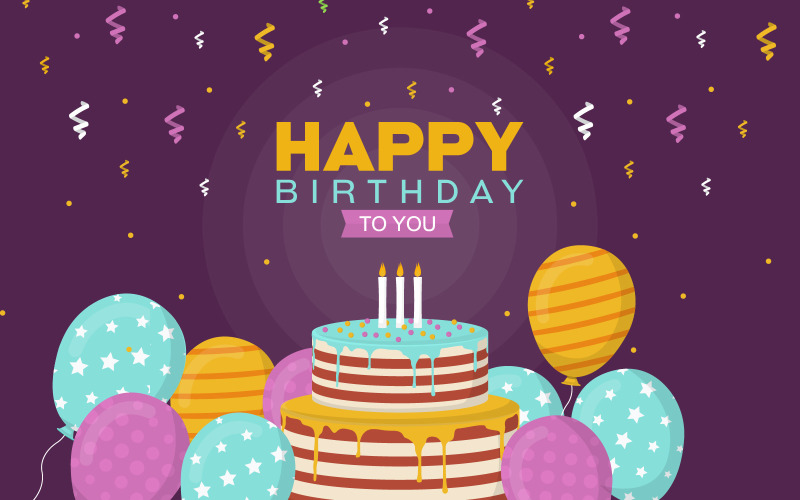 Фон празднования дня рождения