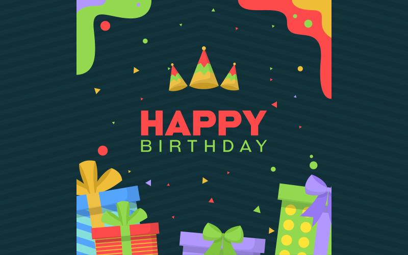 Фон простой открытки на день рождения